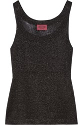 Missoni Metallic Crochet Knit Top Black