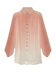 Zimmermann Chroma Ombre Silk Georgette Blouse Pink Multi
