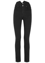 Etoile Isabel Marant Earley Black High Waisted Skinny Jeans