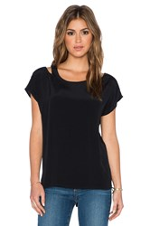 Bb Dakota Ginger Cut Out Shoulder Top Black