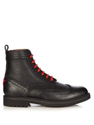Givenchy Commando Leather Ankle Boots Black
