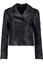 Rag And Bone Chrystie Leather Biker Jacket Midnight Blue