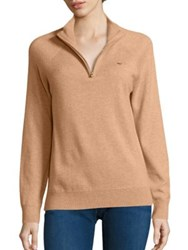 Vineyard Vines Wool And Cashmere Elbow Patch Sweater Caramel