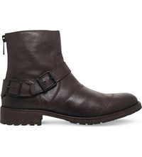 Belstaff Trialmaster Buckle Leather Boots Brown
