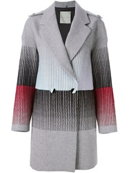 Marco De Vincenzo Embroidered Coat Grey