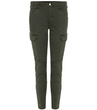 J Brand Houlihan Mid Rise Skinny Cropped Cargo Trousers Green