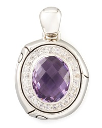 John Hardy Bamboo Batu Small Amethyst And Sapphire Oval Enhancer