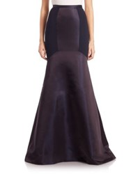 Theia Colorblock Crepe Mermaid Skirt