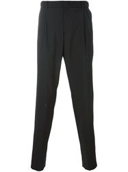 Emporio Armani Tailored Pleated Trousers Black