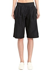 Jil Sander Teddy Silk Blend Shorts Black
