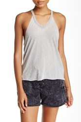 Wild Pearl Burnout Tank Gray