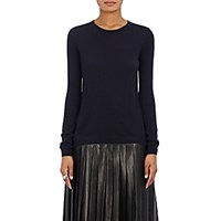 Barneys New York Women's Cashmere Crewneck Sweater Navy