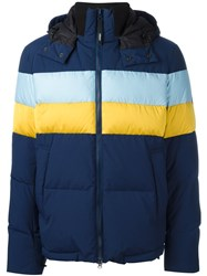 Kenzo 'Stripes' Padded Jacket Blue