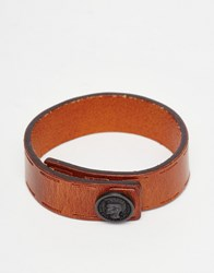 Diesel Bracelet In Leather Orange