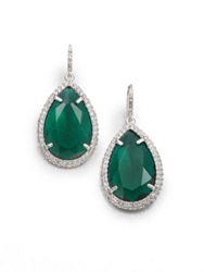 Abs By Allen Schwartz Jewelry Faceted Drop Earrings Emerald Green