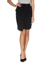 Tonello Knee Length Skirts Black