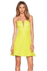 Lumier Visual Language Bustier Dress Yellow