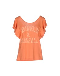Franklin And Marshall Topwear T Shirts Women Apricot