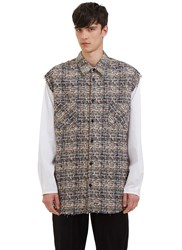 Aganovich Oversized Tweed Shirt Brown