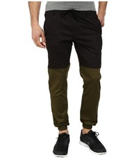 Publish Two Tone Joggers Pants Black Olive Men's Casual Pants