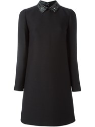 Valentino Studded Collar Dress Black