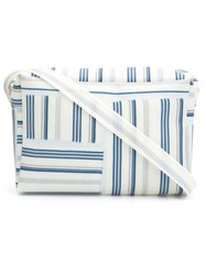 Luisa Cevese Riedizioni Striped Crossbody Bag Blue