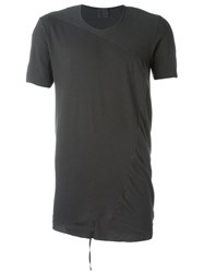 Lost And Found Panelled T Shirt Black