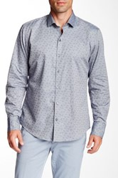Zachary Prell Morales Long Sleeve Trim Fit Shirt Blue