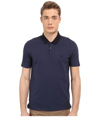 The Kooples Sport Shiny Pique Polo Blue Men's Clothing