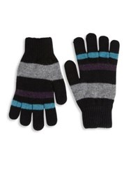 Paul Smith Striped Lambswool Gloves Red Blue