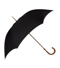 Harrods Of London Maple Handle Tube Umbrella Unisex Black