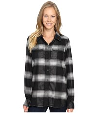 Kavu Wynonna Top Black Smoke Women's Long Sleeve Button Up