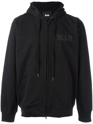 Ktz Front Pockets Zipped Hoodie Black