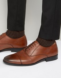 New Look Leather Oxford Shoes In Tan Tan