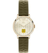 Orla Kiely Ok2006 Frankie Leather And Stainless Steel Watch Champagne