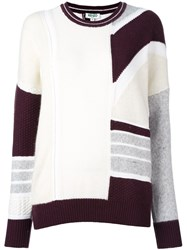 Kenzo Patchwork Jumper Pink And Purple