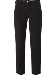 Versace Collection Cropped Tailored Trousers Black