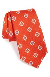Men's Psycho Bunny Medallion Silk Tie Red