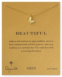 Dogeared 14K Gold Dipped Butterfly Necklace 16