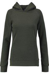 Bodyism Lovisa Cotton Blend Jersey Hooded Sweatshirt Army Green