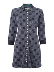 Brakeburn Honeycombe Button Up Tunic Grey