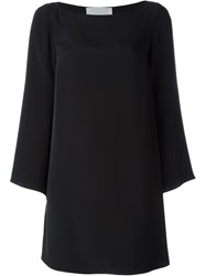 Gianluca Capannolo Draped Sleeve Mini Dress Black