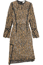3.1 Phillip Lim Asymmetric Jacquard Dress Brown
