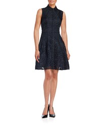 Rachel Roy Laser Cut Fit And Flare Shirtdress Eclipse