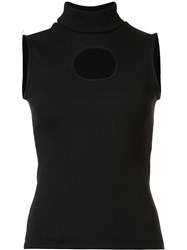 Beaufille Cut Off Turtleneck Blouse Black