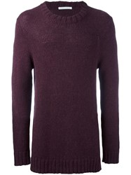 Societe Anonyme Crew Neck Jumper Pink Purple