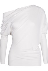 Tom Ford One Shoulder Cashmere And Silk Sweater Ivory