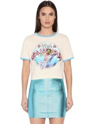 Jeremy Scott Viva Hollywood Cotton Jersey T Shirt