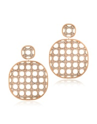 Rebecca Seventies 18 Kt Yellow Gold Over Bronze Earrings With Glitter