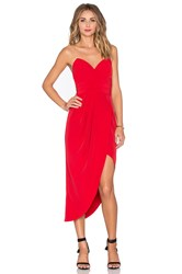 Lovers Friends X Revolve Riviera Strapless Dress Red